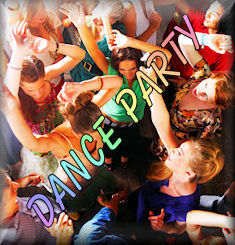Live band dance party logo